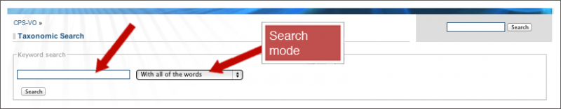 Figure 2: Search for Content