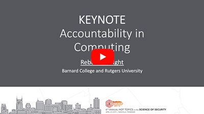 Accountability in Computing video link