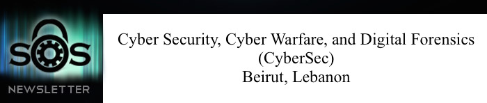 Cyber Security, Cyber Warfare, And Digital Forensics - Beirut