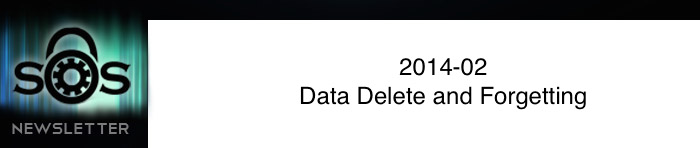 Data Delete and Forgetting
